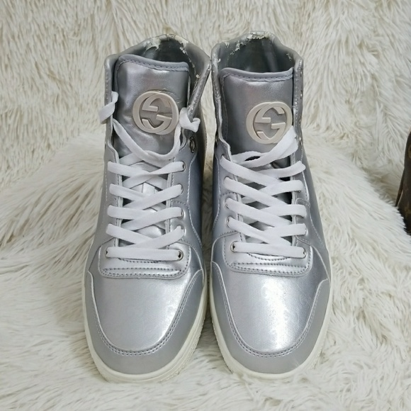 286492cca3b Gucci Shoes - 💥SALE💥GUCCI Men silver hightop shoes sneaker